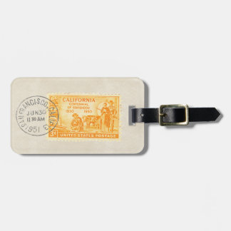 Vintage California 1850 Centennial Stamp Tag
