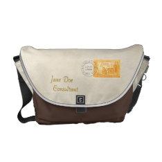Vintage California '50s Centennial Messenger Bag at Zazzle