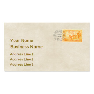 Vintage California Centennial Business Card