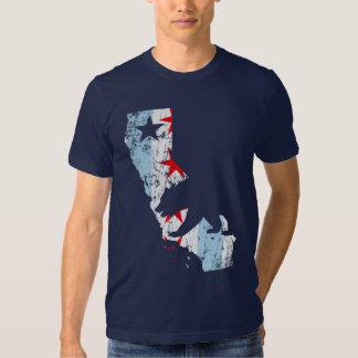 Vintage California Chicago Transplant Mashup Flag T Shirt