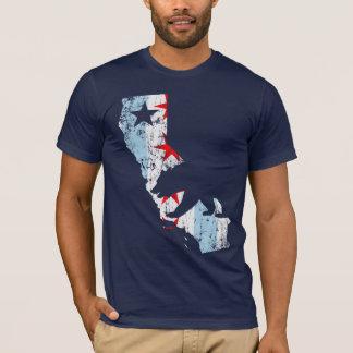 Vintage California Chicago Transplant Mashup Flag T-Shirt