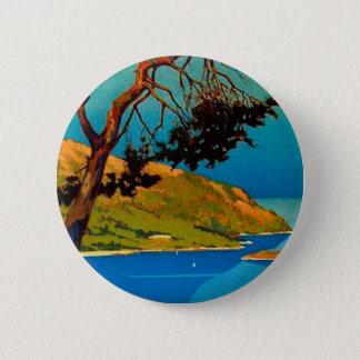 Vintage California Coast Travel Pinback Button