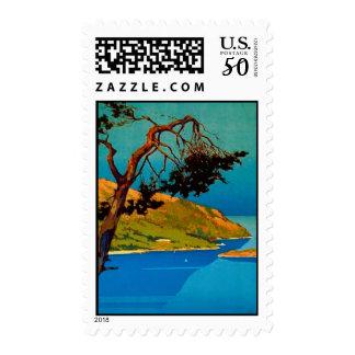 Vintage California Coast Travel Postage