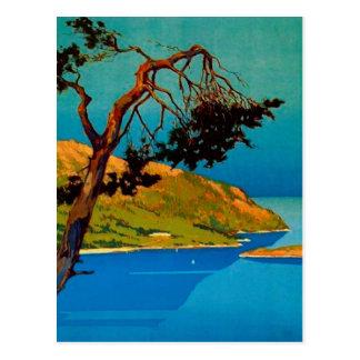 Vintage California Coast Travel Postcard