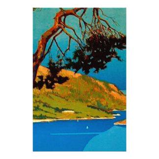 Vintage California Coast Travel Stationery