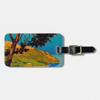 Vintage California Coast Travel Travel Bag Tag