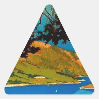 Vintage California Coast Travel Triangle Sticker