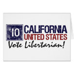 Vintage California del libertario del voto en 2010 Tarjetón