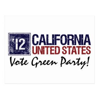 Vintage California del Partido Verde del voto en 2 Tarjeta Postal