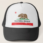"Vintage California Flag Trucker Hat<br><div class=""desc"">Just a cool vintage looking California Flag design. Vintage design for a well worn classic look.</div>"