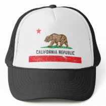 Vintage California Flag Trucker Hat