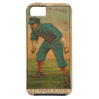 Vintage California League baseball card iphone5 iPhone SE/5/5s Case