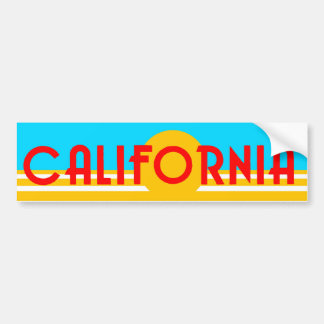 VIntage California Logo Bumper Sticker Car Bumper Sticker