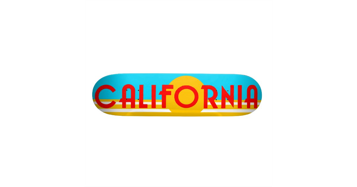 Vintage California Logo Skate Deck Zazzle Com