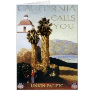 Vintage California, los E.E.U.U. - Tarjeta De Felicitación