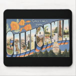Vintage California Postcard Mousepad