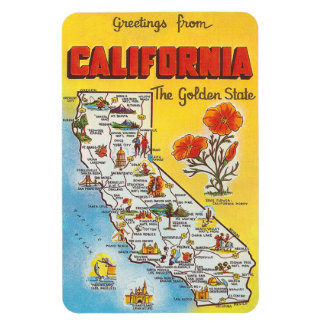 Vintage California Rectangle Magnets