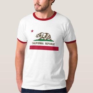 Vintage California Republic State Flag Red Ringer Shirt