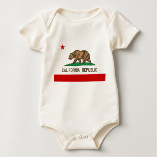 Vintage California Republic State Flag Baby Bodysuits