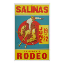 Vintage California Rodeo Travel Poster