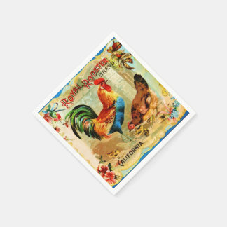 Vintage California Royal Rooster Napkin