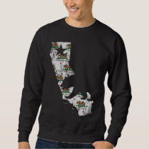 Vintage California State Flag Bear Pattern Sweatshirt