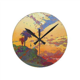 Vintage California Travel Acrylic Wall Clock