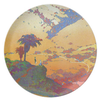 Vintage California Travel Melamine Plate