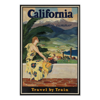 Vintage California Travel Poster