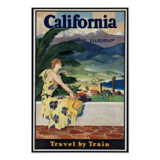 Vintage California Travel Poster at Zazzle