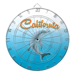 Vintage California Travel Poster Dart Board