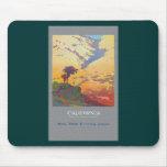 Vintage California Travel Poster Mousepads