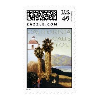 Vintage California, USA - Stamp
