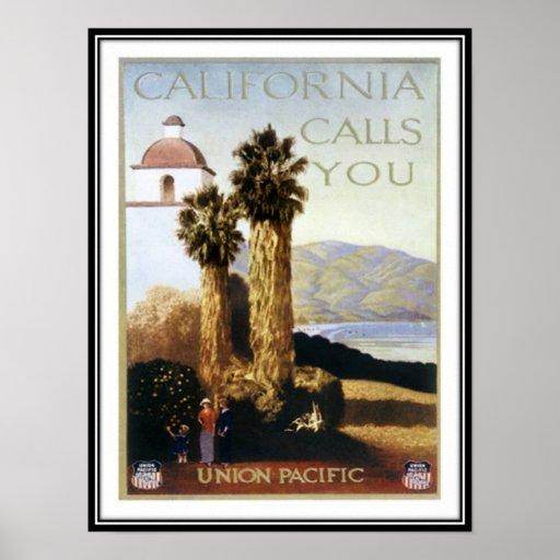 Vintage California, USA - Poster