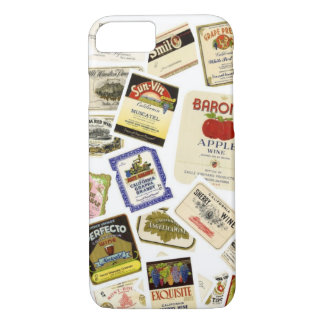 Vintage California Wine Labels iPhone 8/7 Case
