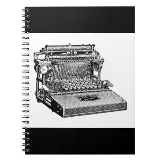Vintage Caligraph Writing Machine (Typewriter) Spiral Notebook