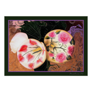 Vintage Calla Lilies Poster