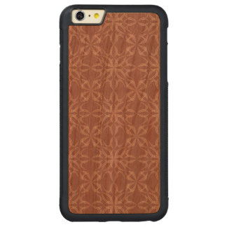 Vintage calligraphic pattern carved® cherry iPhone 6 plus bumper