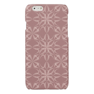 Vintage calligraphic pattern glossy iPhone 6 case