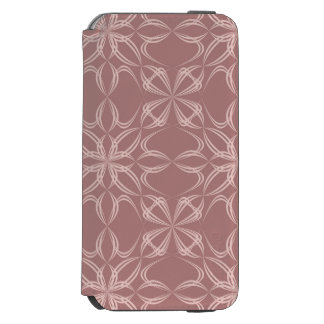 Vintage calligraphic pattern iPhone 6/6s wallet case