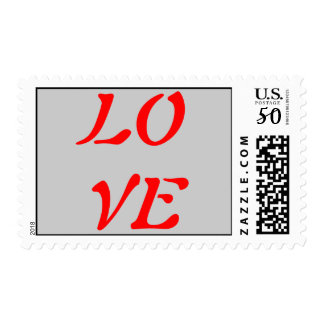 Vintage Calligraphy - Love Postage Stamps