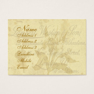 Vintage Calling Card Chubby