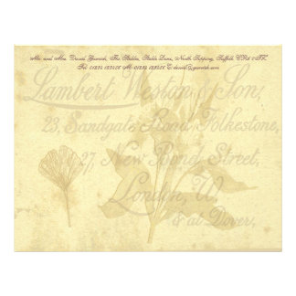 Vintage Calling Card Stationery Personalized Letterhead