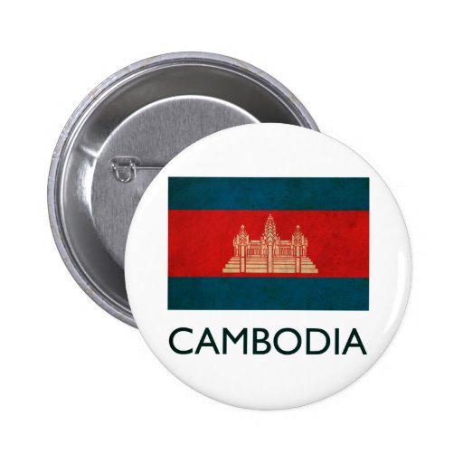 Vintage Cambodia Pinback Button