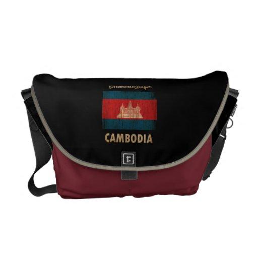 Vintage Camboya Bolsa De Mensajeria