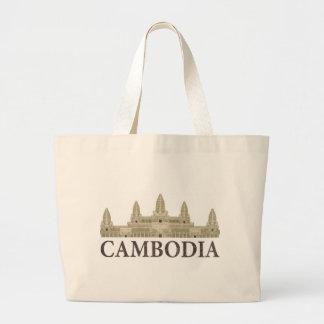 Vintage Camboya Bolsa Tela Grande
