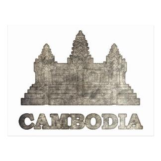 Vintage Camboya Tarjetas Postales