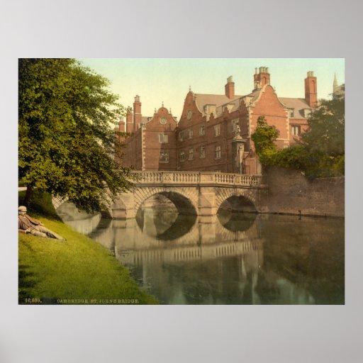 Vintage Cambridge England, St. Johns Bridge Posters