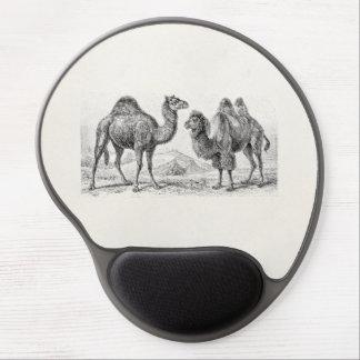 Vintage Camel Illustration - Retro Antique Camels Gel Mouse Pad