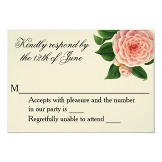 Vintage Camellia Botanical RSVP Card